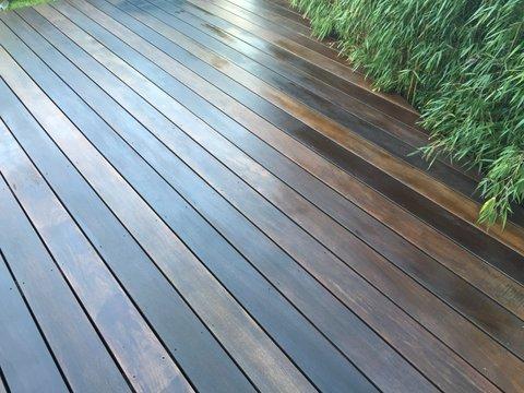 Holz Cumaru verlegt auf Terrasse
