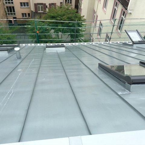 Metalldach mit Dachfenster