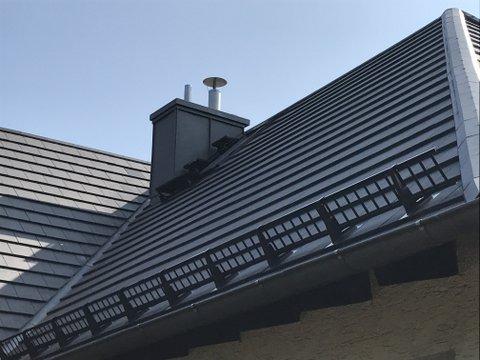 Ansicht Dach mit neuem Schornstein