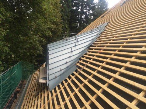 Neubau eines Daches mit Gaube